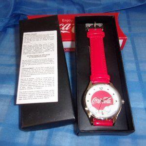 Avon Coca-Cola Red Polar Bear Wrist Watch NIB 2016